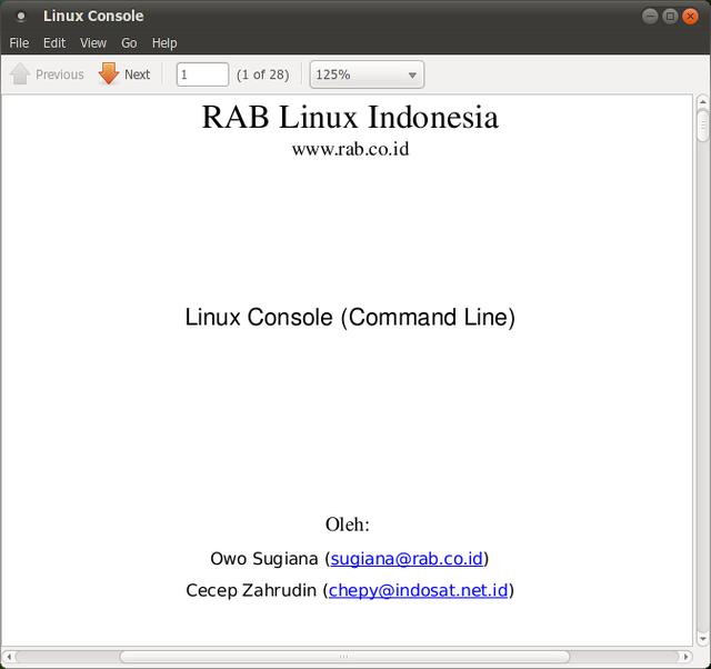 Ebook pengenalan Linux Console