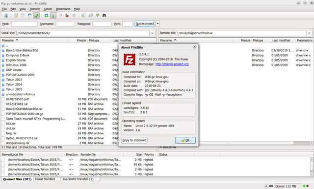 FileZilla: Klien FTP di Ubuntu