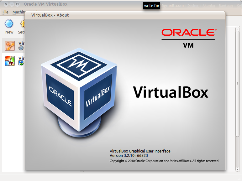 VirtualBox 3.2 di Ubuntu 10.10