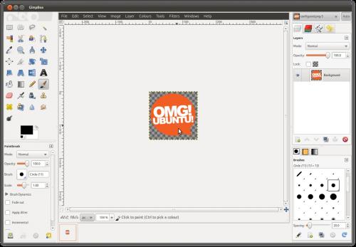 GimpBox: GIMP dalam satu jendela