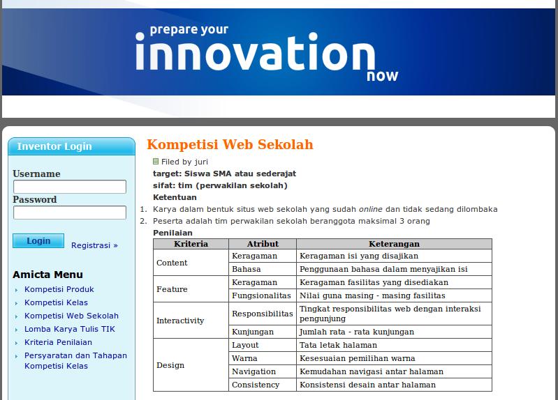 Kompetisi Web Sekolah untuk SMA sederajat
