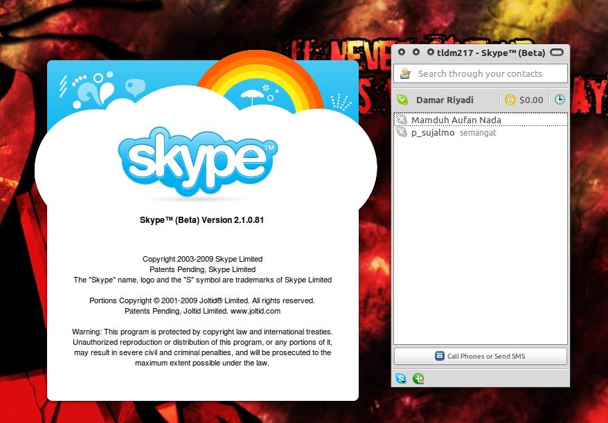 Skype di Ubuntu 10.10 Maverick Meerkat