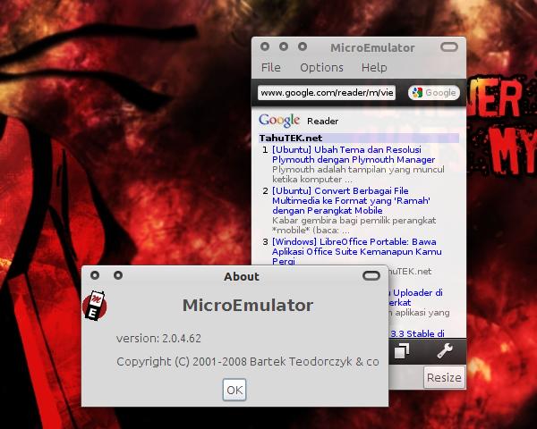 MicroEmulator: Jalankan aplikasi HP berbasis Java