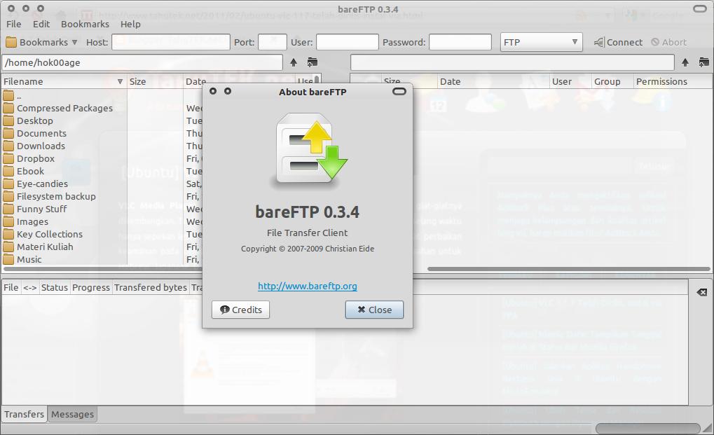 BareFTP: FTP Client yang simpel & ringan