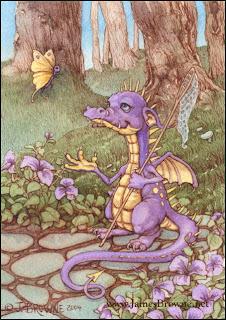 Dragón con cazamariposas