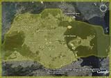 Esta é uma foto do Rio de Janeiro com a imagem de Cingapura sobreposta sobre ela para se ter uma idéia do tamanho de Cingapura com a cidade