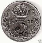brisitsh silver 3 pence coin
