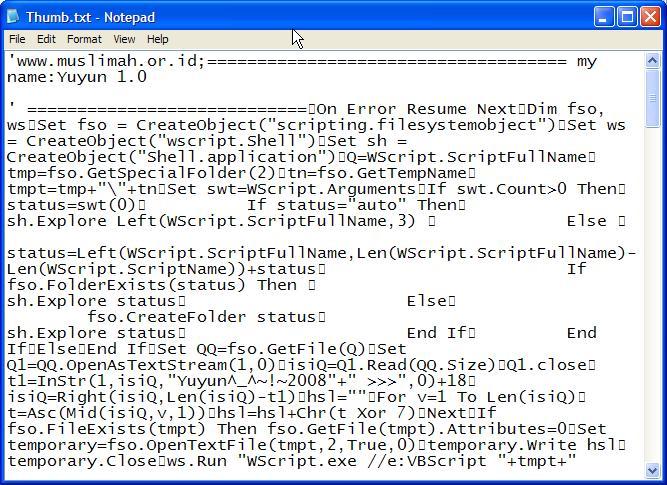 ada ada saja ulah virus jenis script salah satunya ada yang mempunyai ...