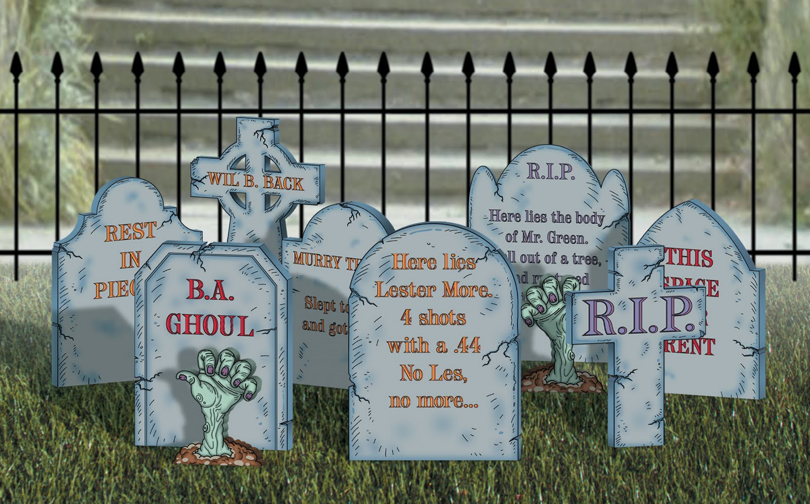 Scary Tombstone Sayings http://sherwoodcreations.blogspot.com/2010/04/halloween-yard-displays.html