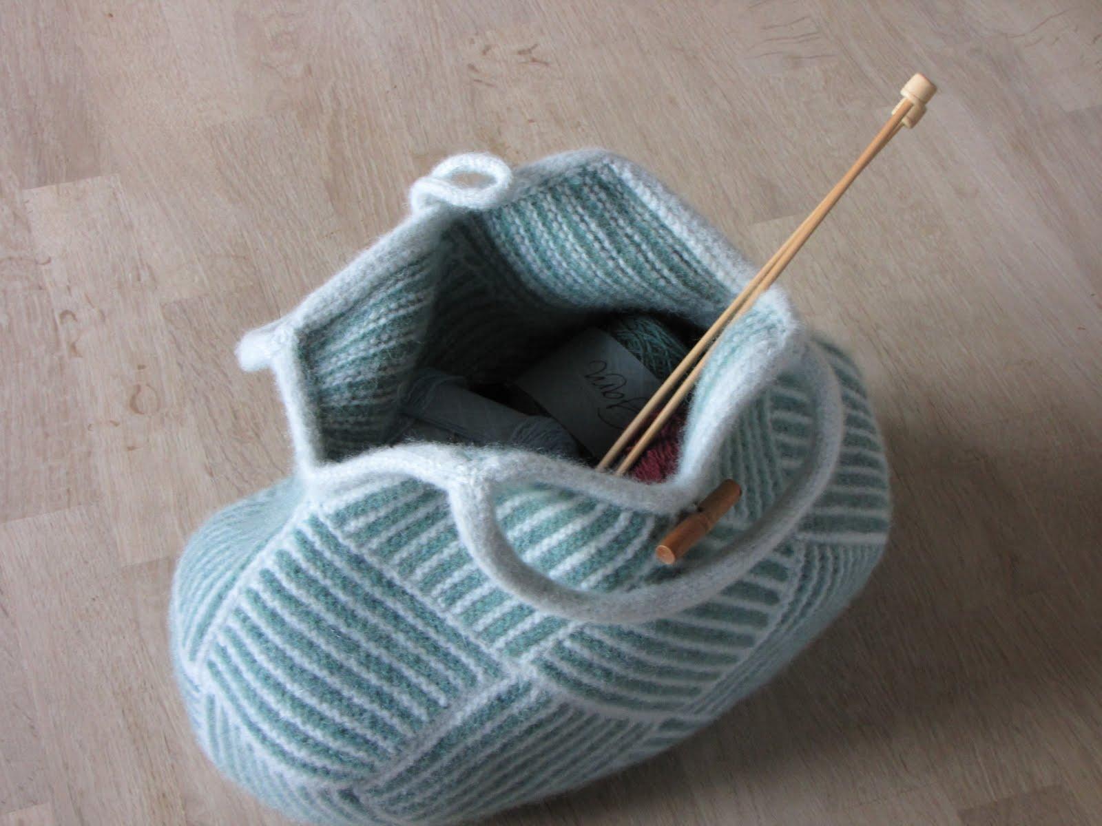 taske til strikketøj