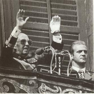 General  Franco and  King of Spain