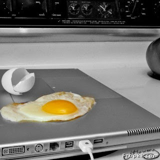 fry pan laptop egg fry funny zoheb