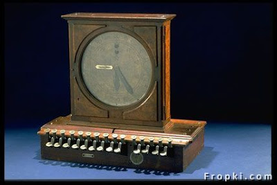 First Cash Register, James Ritty an owner  of a Saloon in Ohio, invented the first cash register in 1879 to stop his  employees from stealing money. Later he sold his cash register company and the  new owner added a roll of paper to it and started the first line of registers  with receipts.