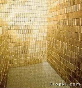 Fort Knox is where  the mother lode of Gold is. This is a picture of one of many vaults filled with  Gold,Vault Of Gold