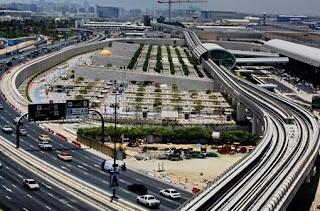 Dubai Metro route near Dubai International Airport