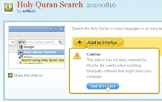 Install Holy Quran Search Tool