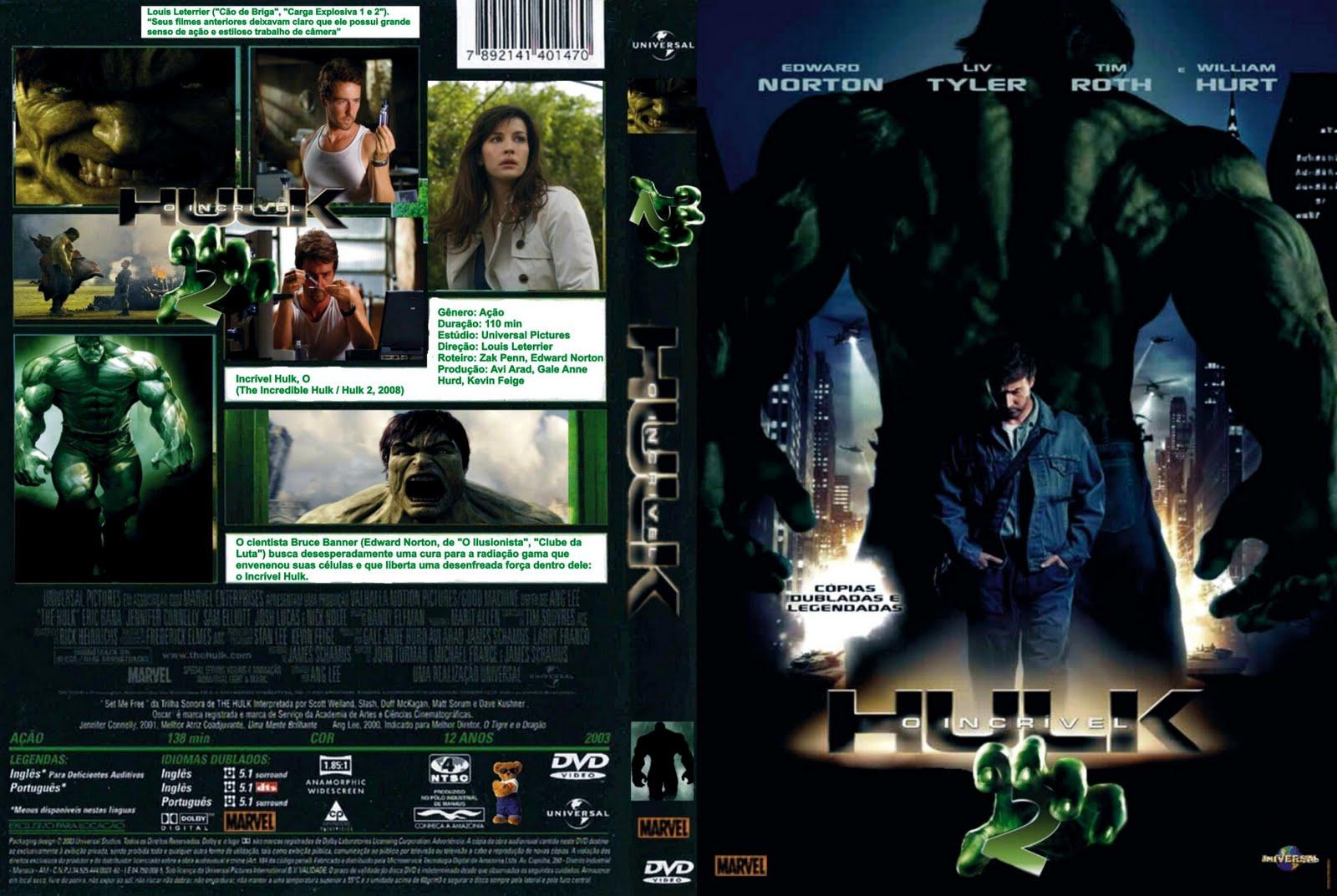 Incrivel Hulck Classy dj vini troca & venda de filmes: o incrivel hulk 2