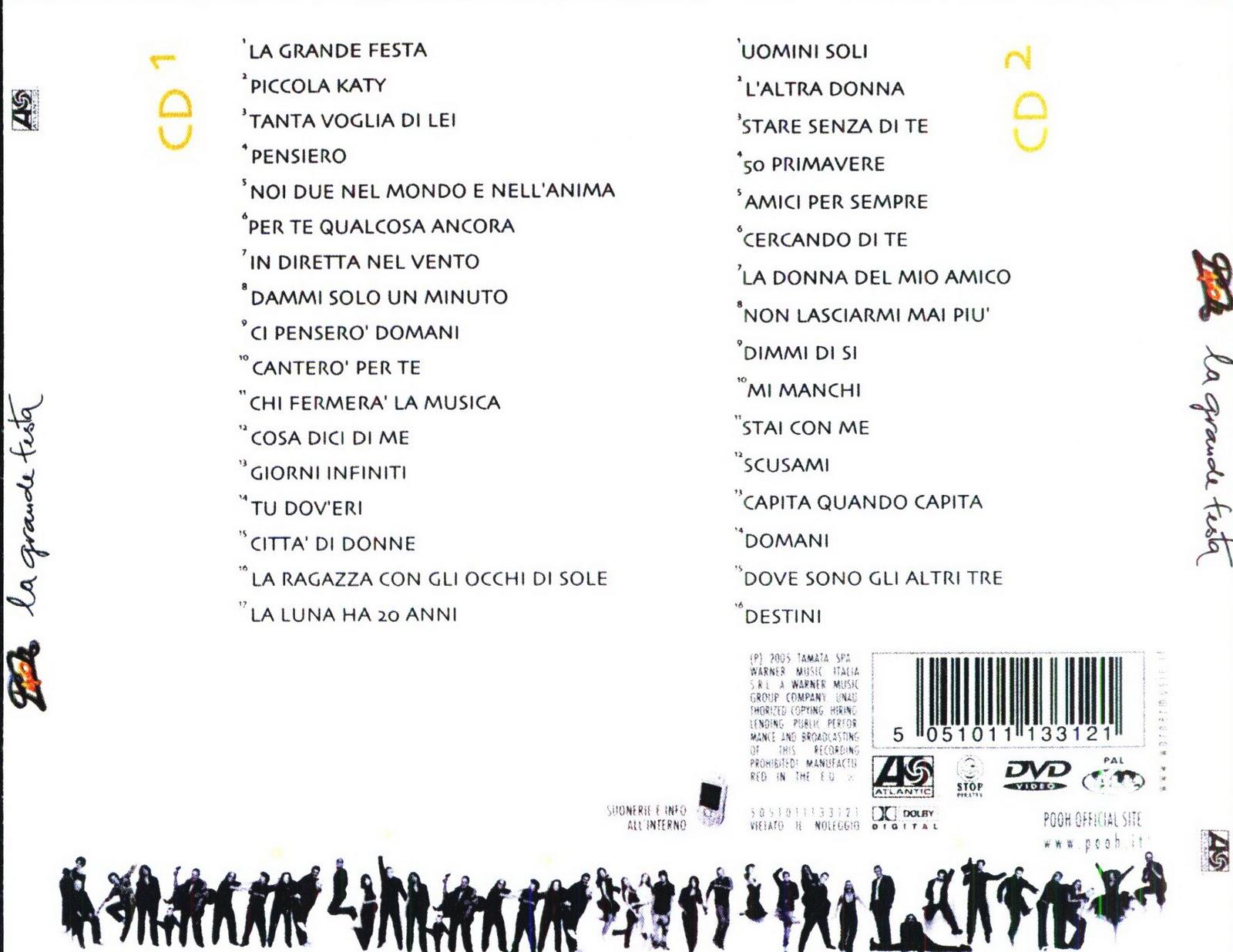 My music new pooh la grande festa cd 1 2 - Testo per sempre gemelli diversi ...