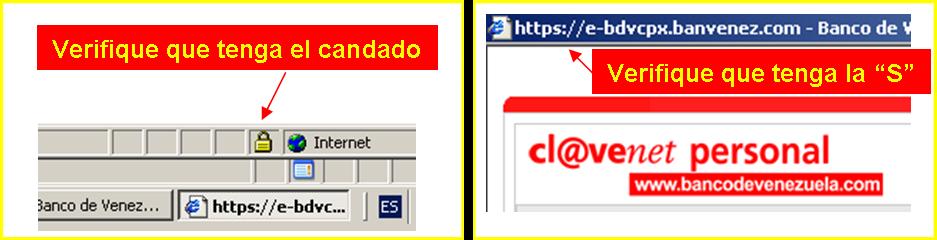 Claves y datos consejos de seguridad en el uso de las for Banco de venezuela clavenet personal