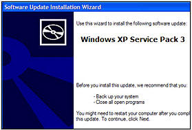 Windows XP SP3 Beta