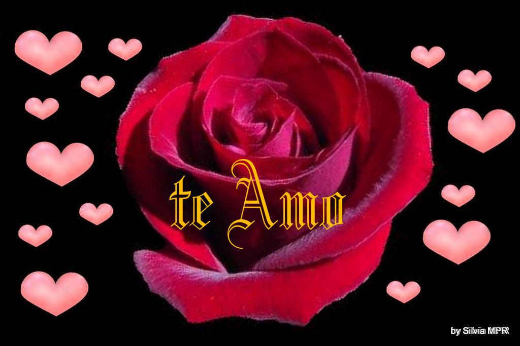 Imagenes de amor : romantica, con diseño de rosas y corazones