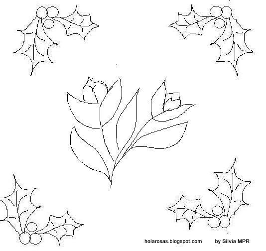 Imagenes de amor dibujos para colorear de flores y - Motivos navidenos dibujos ...