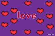 Imagenes de amor de corazones y rosas wallpapers corazones fondo violeta