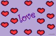 Imagenes de amor de corazones y rosas wallpapers corazones fondo lila
