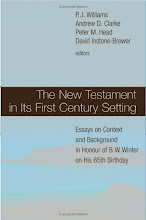 New Testament in Its First Century Setting: Essays in Honour of B.W. Winter