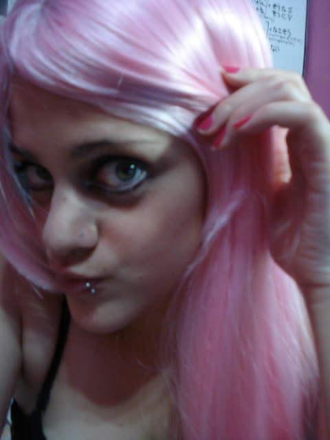 Kanekalon Pink Wig