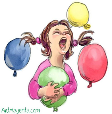 Balloons is a sketch by illustrator Artmagenta