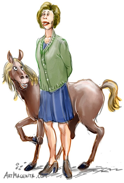 Lap horse is a cartoon by Artmagenta