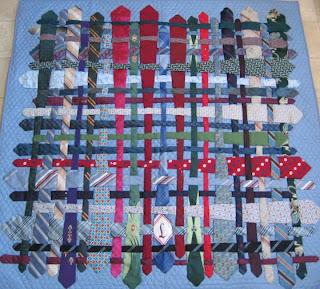 Artful Ties : how to make a tie quilt - Adamdwight.com