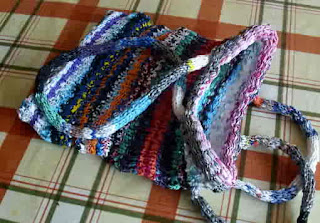 Free Knitting Pattern For A Metallic Knit Bag For Evening