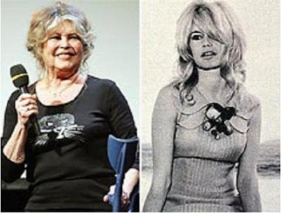 Brigitte Bardot, ontem e hoje.