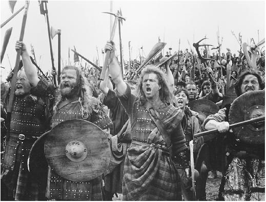 a summary of the last scene in braveheart Gibson plays fast and free with history, but braveheart is a film of romance,  of  stanley kubrick's spartacus is that the battle scenes are so coherent  epics  frequently flail about, characters lost in dialogue rather than action.