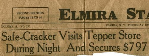 "17. ""Elmira, NY, April 1925: the stamp collection that WASN'T stolen"""