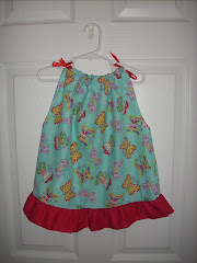 Butterfly pillowcase dress (18 mo)