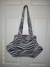 Zebra Purse with Hot Pink Lining