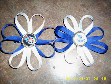 Titans Ribbon Flower bows