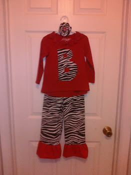 Zebra Ruffle Pants with Appliqued Shirt