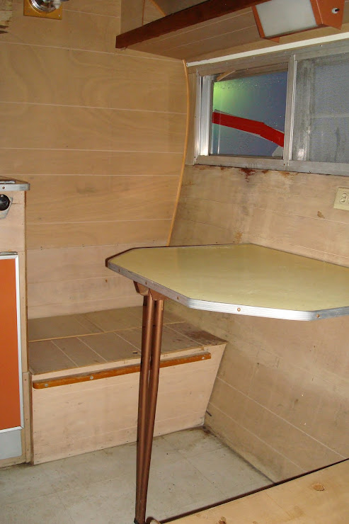 Dinette - after initial cleaning