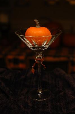 Pumpkin in martini glass