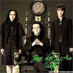 Ellos son Jane, Aro y Alec Vulturi.