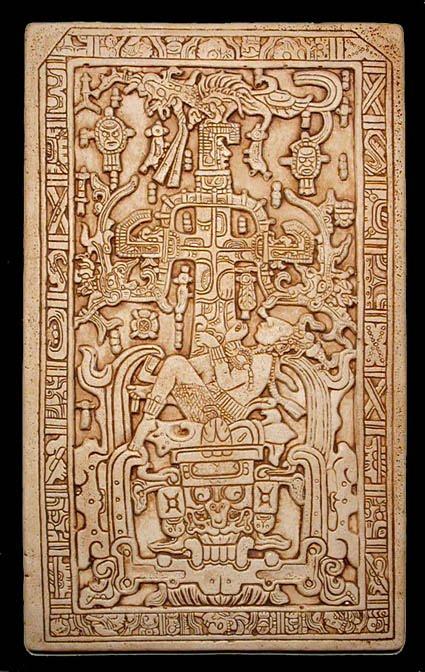 Pierre du tombeau de Pakal (L'homme de Palenque)