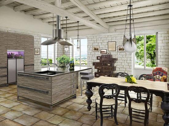 Houten Keuken Ideas : Houten keuken keukenverlichting kitchen lights