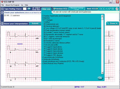 ECG-SAP III: Electrocardiography Self-Assessment Program SS