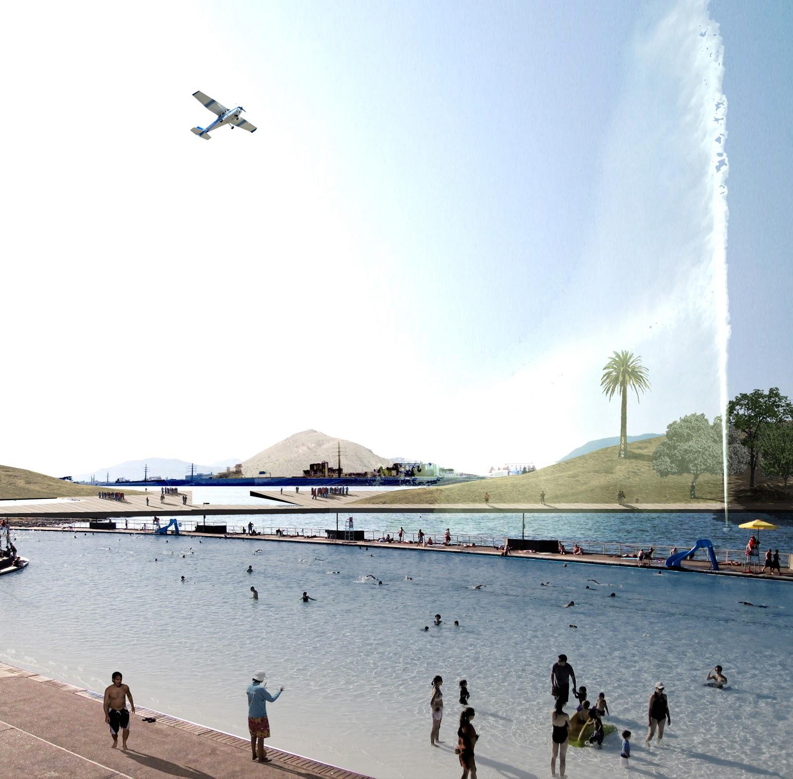 Chile hoy parque en el mapocho r o ser navegable y for Construir laguna artificial