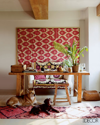 elle decor magazine, suzani, simon upton