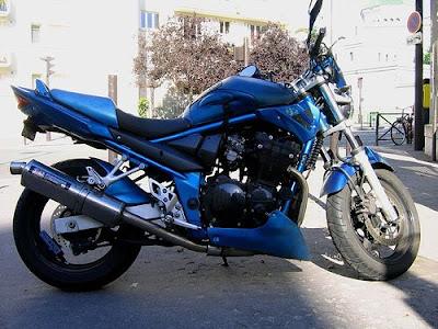 Suzuki Bandit in Blue, Suzuki, motorcycle